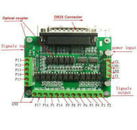 CNC 6 Axis DB25 Breakout Board Interface Adapter MACH3 KCAM4 EMC2 + DB25 Cable