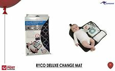 RYCO DELUXE BABY CHANGE MAT WITH POCKETS BNWT Light weight travel Hygienic