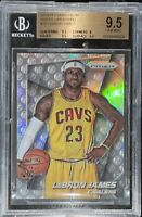 2014 LeBron James PANINI PRIZM SILVER PHOTO VARIATIONS REFRACTOR #10 BGS 9.5 PSA