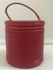 Authentic Louis Vuitton Cannes Red Epi LV Leather Hand Bag - US Seller