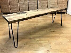 Bruntsfield - Industrial Scaffold Board Bench Seating on Steel Hairpin legs