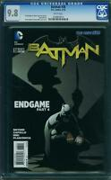 BATMAN #  38  US DC 2015    ENDGAME CGC 2nd highest graded copy! CGC 9.8  MINT