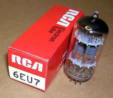 1- NOS RCA 6EU7 tube - perfect for early Gibson, Magnatone and Valco amplifiers