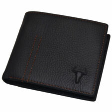 Handmade Mens Wallet Leather Credit Card Wallets Coin Zipper Pocket Black colour