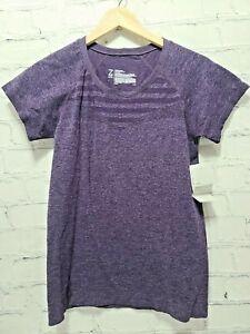 Z By Zella Women's Large Move Thru Short Sleeve Seamless T-Shirt In Purple,  A70