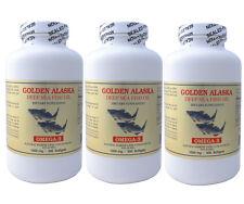 3 x Golden  Alaska Deep Sea Fish Oil, Omega 3, EPA DHA  300x3=900 softgels