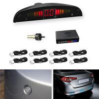 8 Parking Sensors Car SUV Reverse Backup Radar LED Display Sound Alarm Alert Kit