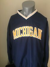 Michigan Wolverines University PRO PLAYER Vneck Pullover Adult Large