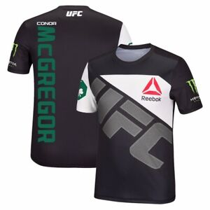 Conor McGregor Reebok UFC Men's Black Fight Kit Walkout Jersey BT1908