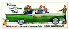 """See Your Ford Dealer Today! Retro Look 1957 Style Collectible Metal Sign 26"""""""