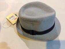 Boys 0-6 Month Old ---Fedora Hat---Grey New W/Tags