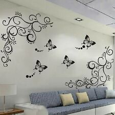 Beauty Butterfly Flower Wall Sticker Decor Home Room Removable Decals Vinyl New