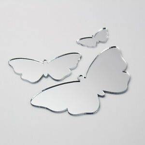 Butterfly Acrylic Mirror Home Bathroom Children' Babies Safety Wall Shatterproof