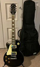 2005 Epiphone Les Paul Standard Ebony Left Handed In Excellent Condition! Nice!