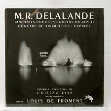 DE FROMENT - DELALANDE sinfonies pour les soupers du roy L'OISEAU-LYRE LP EX