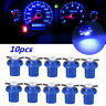 10Pcs T5 B8.5D 5050 1 SMD LED Dashboard Dash Gauge Instrument Light Bulbs Blue