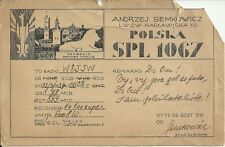 OLD VINTAGE SPL1067 LWOW RACLAWICKA POLAND AMATEUR RADIO QSL CARD