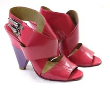 GUC Chloe Women's Size EU 36 US 5.5 Magenta Patent Leather Wide Strappy Heels