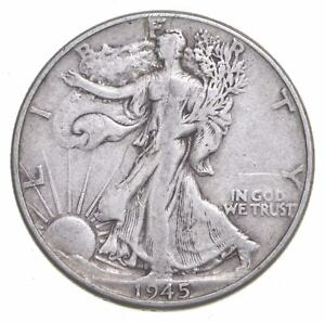 1945 Walking Liberty 90% Silver US Half Dollar *591