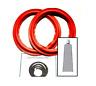 "NEW 10"" Sound Dynamics Speaker Red Edge Woofer Foam Surround Repair Kit (Pair)"