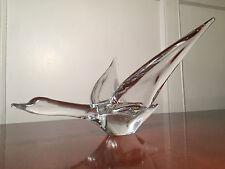 """Mid-Century Signed FM KONSTGLAS/MARCOLIN Swedish Art-Glass 10"""" BIRD/GOOSE FLIGHT"""