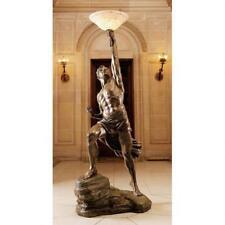 """19th Century Replica Greek Titan Prometheus 74"""" Floor Lamp"""