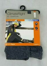 NEW Cuddl Duds ClimateRight Stretch Fleece Gray Leggings Gray Pants Size XXL