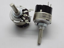 1x Tesla TP281b/32B -  Rotary Switch Potentiometer 1A 250V 500k Ohm - NEW