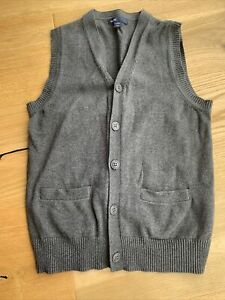 Gap Kids Boys Knitted Waistcoat Grey Age 8-9 Excellent Condition!