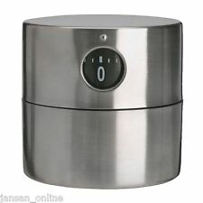 IKEA ORDNING STAINLESS STEEL CYLINDER SHAPED KITCHEN TIMER- 6cm