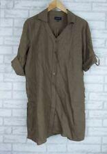 Linen Shirt Dresses for Women with Blouson