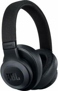 JBL - E65BTNC Wireless Noise-Cancelling Over-the-Ear Headphones - Matte Black