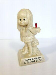 W & R Berries Girl Figurine Happy Birthday to the One I Love USA 70's cute gift