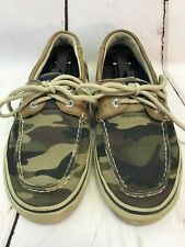 Sperry Top-Sider 0771790 Halyard 2-Eye Camo Boat Deck Laofers Men's US 8 1/2 M