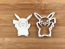 Pikachu carácter 001 Masita Cortador Fondant Pastel Decoración Molde Pasta De Goma