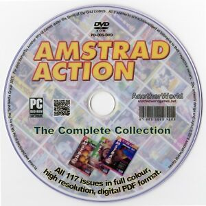AMSTRAD ACTION Magazine Collection on Disk ALL ISSUES CPC+/464/6128/GX4000 Games