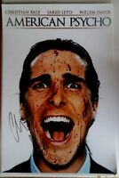 CHRISTIAN BALE SIGNED AMERICAN PSYCHO MOVIE POSTER 12x18 AUTO BATMAN PHOTO PROOF