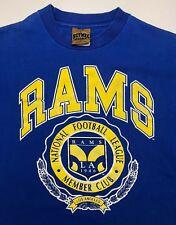 Vintage Youth L 90s Los Angeles Rams NFL Football Member Club Nutmeg T-Shirt