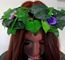 IVY ROSE head dress band RIBBON/BRIDAL/FESTIVAL/PURPLE/LILAC/floral boho wired