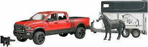 BRUDER RAM 2500 POWER PICK UP WITH HORSE TRAILER & HORSE 02501