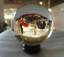 Clear Crystal Sphere Hydro Quartz Fusion Magic ball with Stand