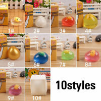 Splat Egg Shaped Anti-stress Squeeze Ball Novelty Relief Stress Toy W/Box