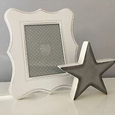 SHABBY FRENCH CHIC LARGE WHITE WOODEN PHOTO FRAME 8 X 10 Inch PHOTO SIZE