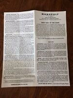 MONOPOLY BOARD GAME INSTRUCTIONS COPYRIGHT 1961 BY PARKER BROTHERS