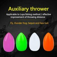 4x Glow Fly Fishing Hook Floating Bait Throwers Fishing Tackle Terminal L5X2