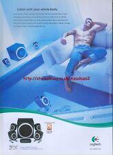 "Logitech ""listen With Your Body"" 2002 Magazine Advert #2076"