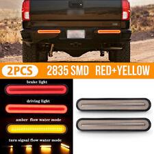 2 X 100 LED Trailer Truck Stop Flowing Turn Signal Brake Rear Tail Light 12V-24V