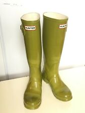 HUNTER BOOTS LTD WOMEN SZ 7 ORIGINAL GLOSS TALL WATERPROOF RAIN KNEE RUBBER 0509