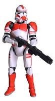 Star Wars Revenge of the Sith Red Clone Trooper (6) damaged card