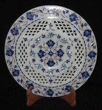Handmade Decorative Marble Inlay Plate Pietra Dura Inlay Handmade Home Decor